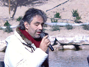 Andrea Bocelli - Bocelli rehearsing for his Under the Desert Sky concert in Lake Las Vegas, 2006