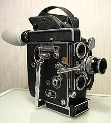16 mm font-bobenis Bolex H16 Reflex cameran