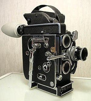 A 16 mm spring-wound Bolex H16 Reflex camera, ...