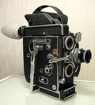 "Film - This 16 mm spring-wound Bolex ""H16"" Reflex camera is a popular entry level camera used in film schools."