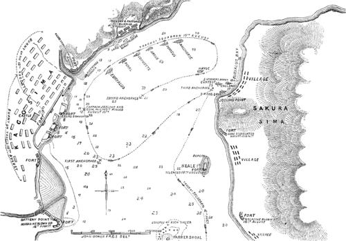 Bombing of Kagoshima Map - 1863.PNG