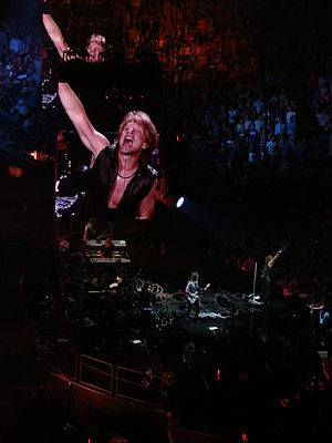 The Circle Tour - Bon Jovi on stage during The Circle Tour at the O2 Arena in London