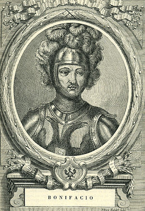 Boniface, Count of Savoy - Etching by Francesco Maria Ferrero di Lavriano (1702)
