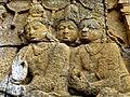 Borobudur - Lalitavistara - 011 E, The Gods venerate the Bodhisattva (detail 4) (11247860535).jpg