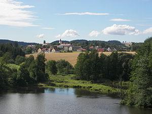 Borotín (Tábor District) - Image: Borotin od Stareho Zamku 1