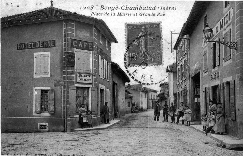 f 225 jl boug 233 chambalud place de la mairie et grande rue 1919 p 28 l is 232 re les 533 communes