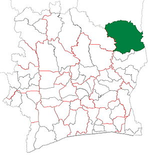 Bouna Department - Bouna Department from 2005 to 2011. (Other subdivision boundaries began to change in 2008.)