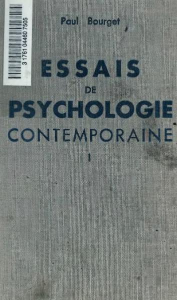 File:Bourget - Essais de psychologie contemporaine, t1, Plon-Nourrit.djvu