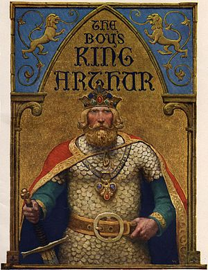 Le Morte d'Arthur - Title page (N.C. Wyeth) for The Boy's King Arthur: Sir Thomas Malory's History of King Arthur and His Knights of the Round Table, Edited for Boys by Sidney Lanier (1922)