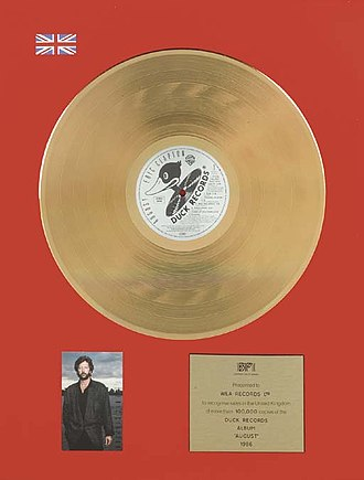 British Phonographic Industry - A gold certification for Eric Clapton's album August.