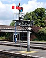 Bracketed starter signal, down (north) end of Banbury station - geograph.org.uk - 1350741.jpg