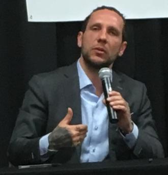 Brandon Novak - Novak speaking at Texas A&M University in April 2018