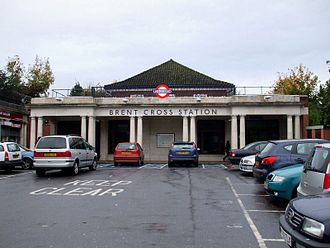 Charing Cross, Euston and Hampstead Railway - Image: Brent Cross stn building