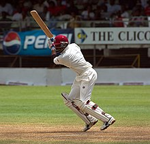 Brian Lara playing a stroke.