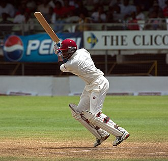 Brian Lara - Brian Lara batting for the West Indies against India at Kensington Oval, Bridgetown, Barbados, in 2002.