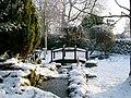 Bridge over frozen stream - geograph.org.uk - 224250.jpg