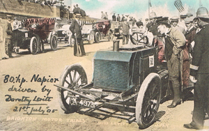 Brighton Speed Trials - Miss Dorothy Levitt and her 80 hp Napier, 1905