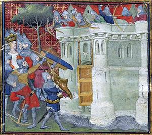 Siege of Bristol - Isabella oversees the siege.