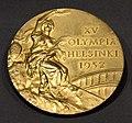 British Olympic Team gold medal won by Lieutenant Colonel Douglas Stewart, Helsinki Olympics, 1952. Royal Scots Dragoon Guards (Carabiniers and Greys), Regimental Museum, Edinburgh Castle, Scotland, UK.jpg