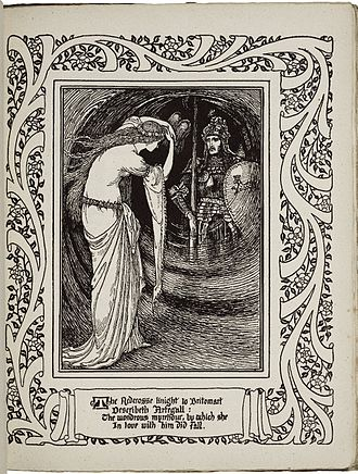 The Faerie Queene - Britomart viewing Artegall by Walter Crane from Book III, Part VII of an 1895–1897 edition