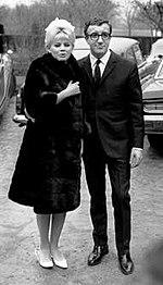 Britt Ekland and Peter Sellers 1964 crop.jpg