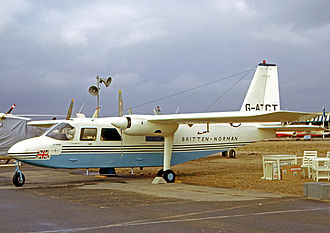 Britten-Norman BN-2 Islander - The prototype BN-2 Islander displayed at the 1965 Paris Air Show six days after its maiden flight.