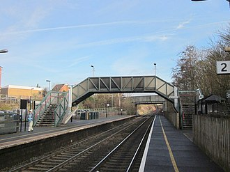 Bromsgrove railway station - Image: Bromsgrove Station Footbridge Looking North