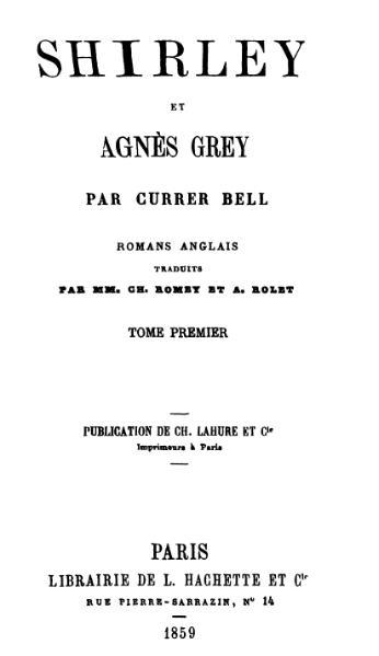 File:Bronte - Shirley et Agnes Grey.djvu