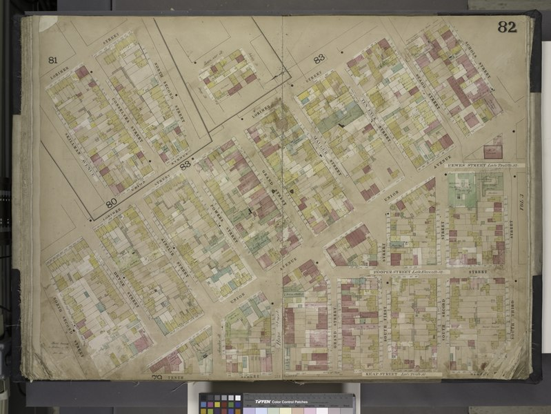 File:Brooklyn, Vol. 4, Double Page Plate No. 82; (Map bounded by Lorimer St., Skillman Ave., Conselyea St., North 2nd St., Loriner St., Stagg St., Schols St., Ten Eyck St., Mauger St., Grand St., Powers NYPL1695449.tiff