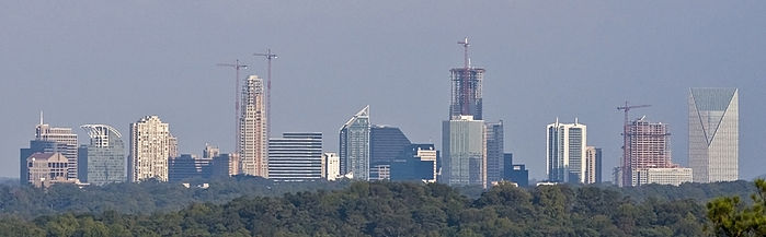 Buckhead skyline from Vinings
