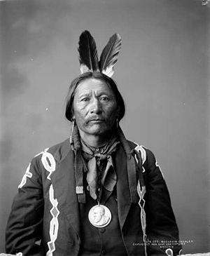 Sapiah - Buckskin Charley, wearing his Indian Peace Medal
