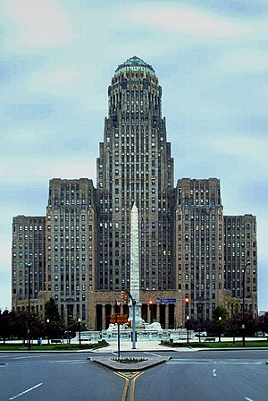 City Hall of Buffalo, New York, an Art Deco bu...