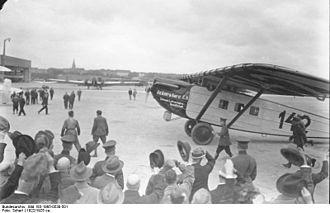 Ad Astra Aero - Walter Mittelholzer using Dornier B-Bal Merkur (CH-142) at Berlin Tempelhof Airport