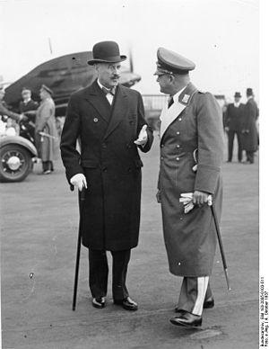 André François-Poncet - François-Poncet (left) with Erhard Milch, October 1937
