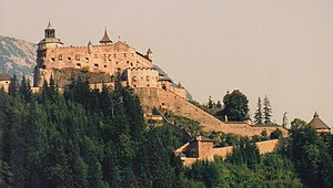 Frankenstein's Aunt - Among others, Hohenwerfen Castle was used to film the exterior of Frankenstein's Castle
