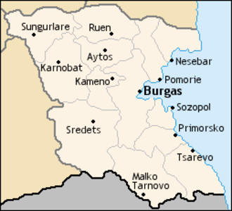 Municipalities of Bulgaria - The municipalities of Burgas Province