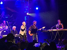 Burleigh Drummond, Michael McDonald, Amy Holland, Joe Puerta and Mary Harris onstage at the Canyon Club Image.jpeg