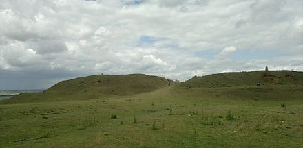 The entrance to Burrough Hill Iron Age hillfort Burrough Hill gateway, 2011.jpg
