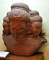 Bust of Brahma - Circa 6th Century CE - Mathura - Uttar Pradesh - Indian Museum - Kolkata 2013-04-10 7755.JPG