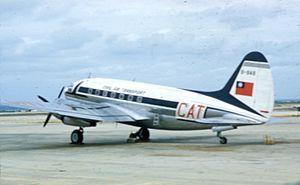 Civil Air Transport - A CAT C-46D in Indochina.