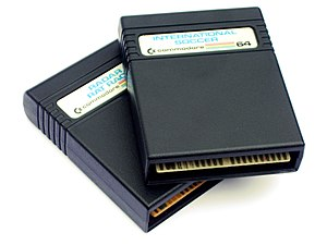 Commodore 64 - Game cartridges for Radar Rat Race and International Soccer