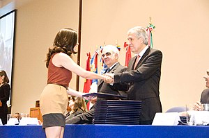 Graduate school - Student receives degree from the Monterrey Institute of Technology and Higher Education, Mexico City, 2013