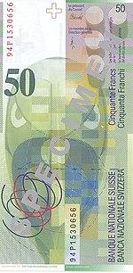 50 Franken Rückseite