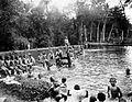 COLLECTIE TROPENMUSEUM De badplaats voor jongens van het tehuis Stichting 'Oranje Nassau' gesticht door vader Van der Steur te Magelang Java voor de opvang van soldatenkinderen TMnr 10002252.jpg