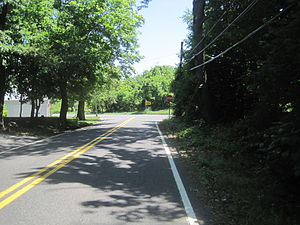 County Route 543 (New Jersey) - CR 543 approaching its northern terminus at CR 545 in Mansfield Township
