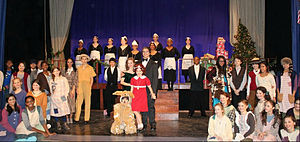 Columbia Secondary School - CSS students perform the musical Annie.