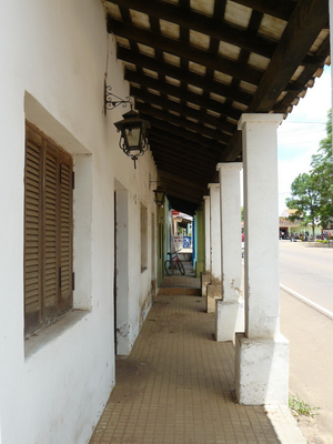 Caapucú - Portico of an old colonial house in Caapucú.