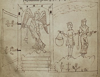 Anglo-Saxon Adam and Eve from the Caedmon manu...