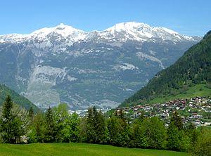 Calanda (mountain) - Felsberger (left) and Haldensteiner Calanda from Maladers