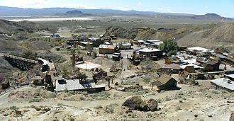 Mining community - Calico, in San Bernardino County, California, was a mining town founded in 1881.
